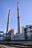 Καπνοδόχος στο εργοστάσιο Στοκ Φωτογραφίες