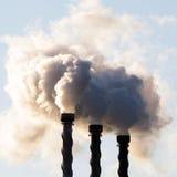 Καπνοδόχοι ατμού Στοκ Φωτογραφία