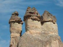 Καπνοδόχοι και περιοχή Cappadocia Στοκ Εικόνα