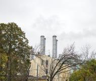 Καπνοδόχοι μετάλλων των μικρών εγκαταστάσεων Στοκ φωτογραφίες με δικαίωμα ελεύθερης χρήσης