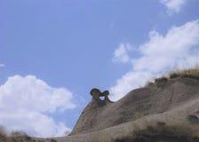 Καπνοδόχοι νεράιδων σε Cappadocia - γεωλογικές πέτρες Στοκ φωτογραφία με δικαίωμα ελεύθερης χρήσης
