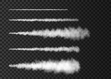 Καπνός από τη διαστημική έναρξη πυραύλων που απομονώνεται στο διαφανές υπόβαθρο διανυσματική απεικόνιση