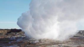 Καπνός από geyser στην Ισλανδία φιλμ μικρού μήκους