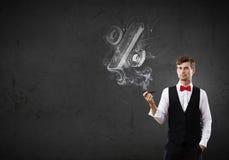 Καπνός επιχειρηματιών και σωλήνων Στοκ φωτογραφίες με δικαίωμα ελεύθερης χρήσης