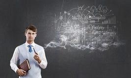Καπνός επιχειρηματιών και σωλήνων Στοκ Φωτογραφία