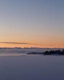 Καπνός θάλασσας Στοκ Εικόνες