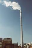 Καπνός και καπνοδόχος Στοκ Φωτογραφίες