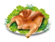 Καπνός κοτόπουλου ελεύθερη απεικόνιση δικαιώματος