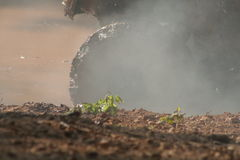 καπνός λάσπης Στοκ Εικόνες