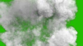 Καπνός μετά από μια ισχυρά έκρηξη και Shockwave μπροστά από μια πράσινη οθόνη απεικόνιση αποθεμάτων