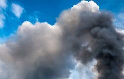 Καπνός πυρκαγιάς Στοκ Φωτογραφία