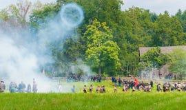Καπνός πυροβόλων Στοκ Φωτογραφία