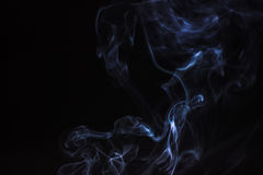 Καπνός ραβδιών θυμιάματος που απομονώνεται Στοκ Εικόνες