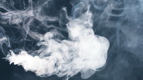 Καπνός σε σε αργή κίνηση Καπνός στο Μαύρο Άσπρος καπνός φιλμ μικρού μήκους