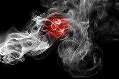 Καπνός σημαιών της Ιαπωνίας Στοκ φωτογραφία με δικαίωμα ελεύθερης χρήσης