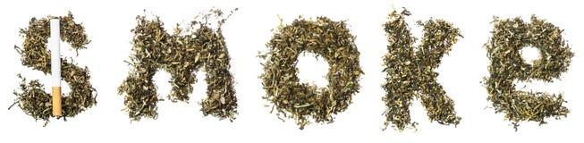 Καπνός σημαδιών φιαγμένος από καπνό Στοκ Φωτογραφίες