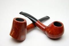 καπνός σωλήνων δύο Στοκ Φωτογραφίες