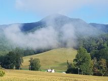 Καπνώδης βόρεια Καρολίνα βουνών επάνω από την κοιλάδα της Maggie nc Στοκ Εικόνα