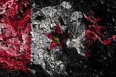 Καπνώδης μυστική σημαία του Μπέρμιγχαμ, Αλαμπάμα στο παλαιό βρώμικο υ διανυσματική απεικόνιση