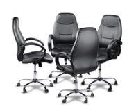 Καρέκλες γραφείων που διοργανώνουν μια συνεδρίαση Στοκ φωτογραφία με δικαίωμα ελεύθερης χρήσης