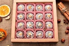 Καραμέλα γλυκών σε ένα κιβώτιο Στοκ Εικόνα