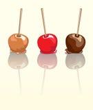 καραμέλα μήλων που απεικ&o Στοκ Εικόνες