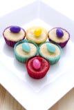 καραμέλα cupcakes Στοκ φωτογραφίες με δικαίωμα ελεύθερης χρήσης