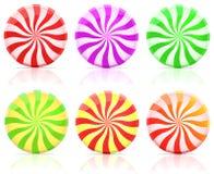 καραμέλα lollipop ριγωτή Στοκ εικόνα με δικαίωμα ελεύθερης χρήσης