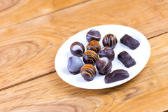 Καραμέλες σοκολάτας Εύγευστη τρούφα Στοκ φωτογραφίες με δικαίωμα ελεύθερης χρήσης