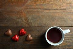 Καραμέλες φλιτζανιών του καφέ και σοκολάτας Στοκ Φωτογραφίες