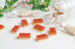 Καραμέλα καραμέλας με τη γεύση φραουλών στοκ φωτογραφία με δικαίωμα ελεύθερης χρήσης