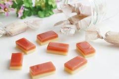 Καραμέλα καραμέλας με τη γεύση φραουλών στοκ εικόνες με δικαίωμα ελεύθερης χρήσης