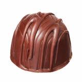 Καραμέλα σοκολάτας που απομονώνεται στο άσπρο υπόβαθρο. Εύγευστη τρούφα Στοκ Φωτογραφίες