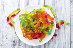 Καραμέλα Gummi (σκουλήκια) Στοκ φωτογραφία με δικαίωμα ελεύθερης χρήσης