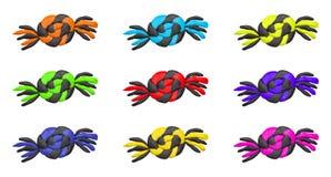 Καραμέλες αποκριών αργίλου κινούμενων σχεδίων Στοκ φωτογραφία με δικαίωμα ελεύθερης χρήσης