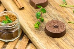Καραμέλες και μέντα σοκολάτας πολυτέλειας Στοκ φωτογραφία με δικαίωμα ελεύθερης χρήσης