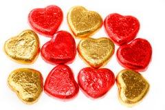 Καραμέλες καρδιών σοκολάτας Στοκ εικόνες με δικαίωμα ελεύθερης χρήσης