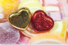 Καραμέλες καρδιών σοκολάτας Στοκ Εικόνα