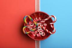 Καραμέλες με το σημάδι καρδιών βαλεντίνων Στοκ Φωτογραφία