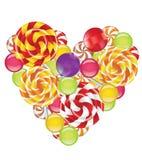 Καραμέλες στη μορφή της καρδιάς Στοκ φωτογραφία με δικαίωμα ελεύθερης χρήσης