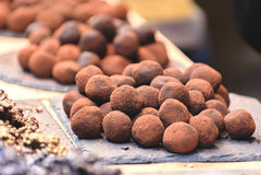 Καραμέλες τρουφών σοκολάτας Στοκ Φωτογραφία