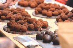 Καραμέλες τρουφών σοκολάτας Στοκ φωτογραφία με δικαίωμα ελεύθερης χρήσης