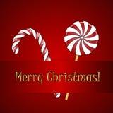 Καραμέλες Χριστουγέννων Στοκ Φωτογραφία