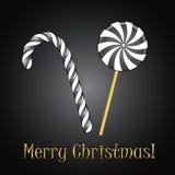 Καραμέλες Χριστουγέννων Στοκ φωτογραφίες με δικαίωμα ελεύθερης χρήσης