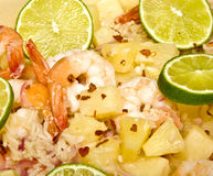 καραϊβικές γαρίδες ρυζιού πιάτων Στοκ εικόνες με δικαίωμα ελεύθερης χρήσης