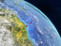 Καραϊβικές Θάλασσες από το διάστημα ελεύθερη απεικόνιση δικαιώματος