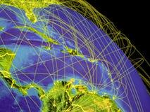 Καραϊβικές Θάλασσες από το διάστημα απεικόνιση αποθεμάτων