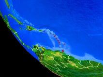 Καραϊβικές Θάλασσες στη γη από το διάστημα απεικόνιση αποθεμάτων