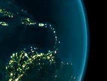 Καραϊβικές Θάλασσες τη νύχτα ελεύθερη απεικόνιση δικαιώματος