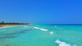 Καραϊβικές Θάλασσες σε playacar Στοκ εικόνα με δικαίωμα ελεύθερης χρήσης